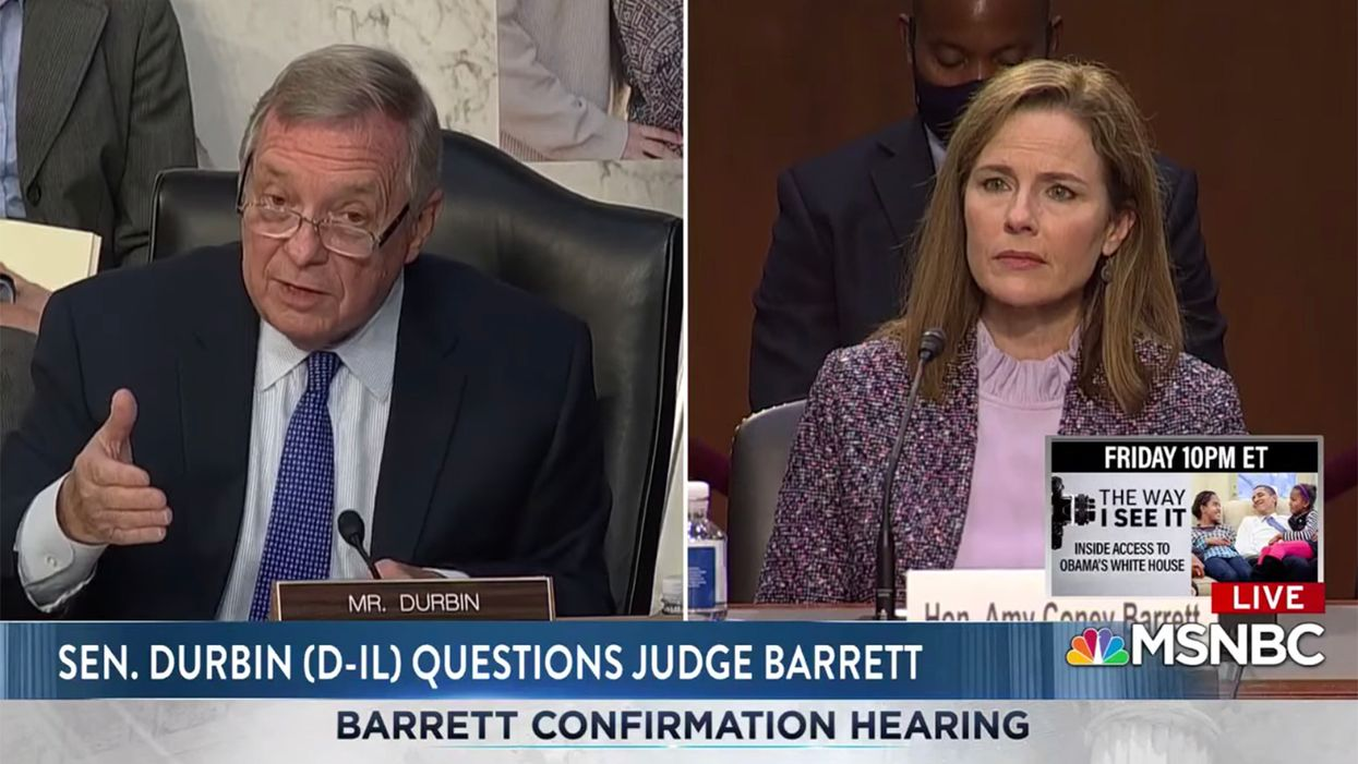Watch: Dick Durbin expertly details the double standard in Barrett's refusal to address election delay