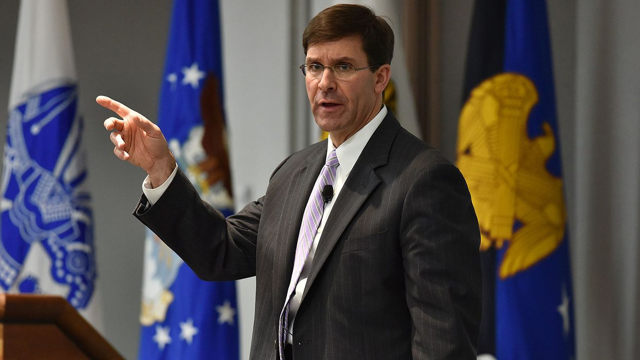 Democratic lawmakers sound alarm over Esper's refusal to rule out deploying troops during election