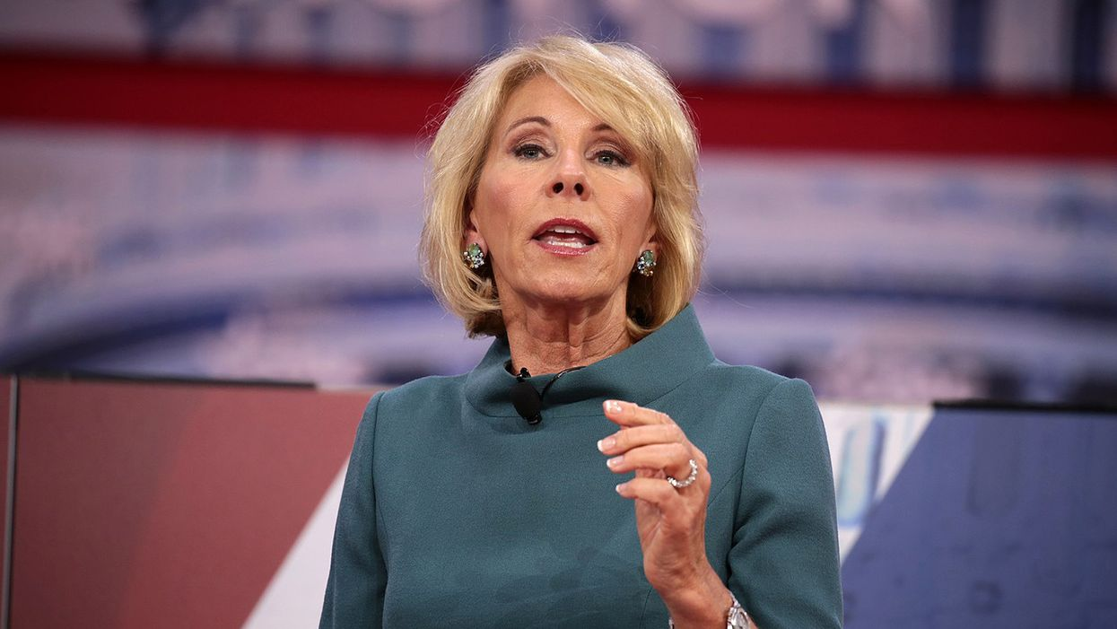 ​Betsy DeVos gave a disturbing message to department staff to undermine Biden on her way out: report