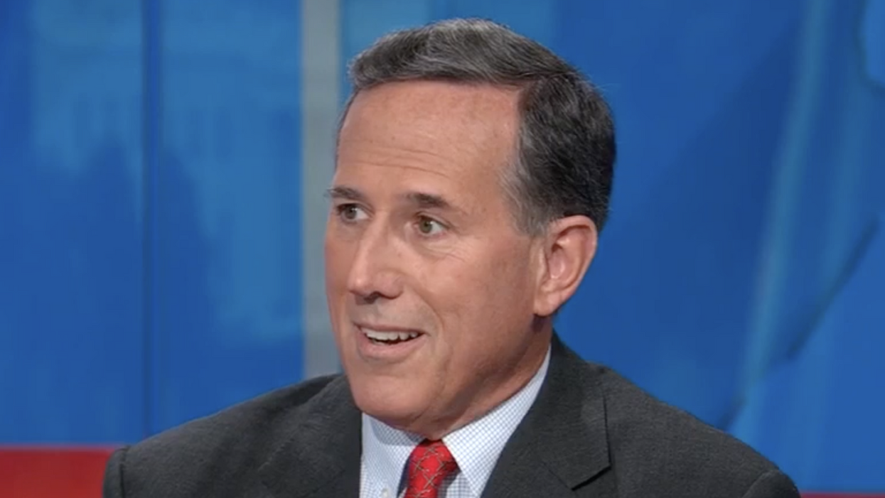 CNN's Anderson Cooper is forced to cut Rick Santorum off before he gets too racist