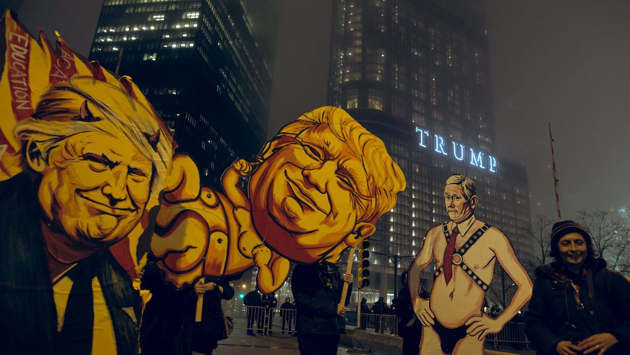 How activists across the US are using street art to protest Trump