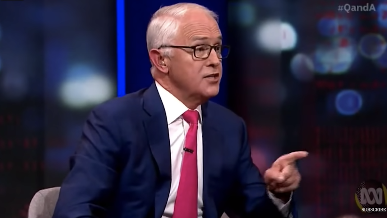 'A shocking legacy': Malcolm Turnbull slams News Corp reporter to his face for aiding Murdoch's 'enormous damage to western democracy'