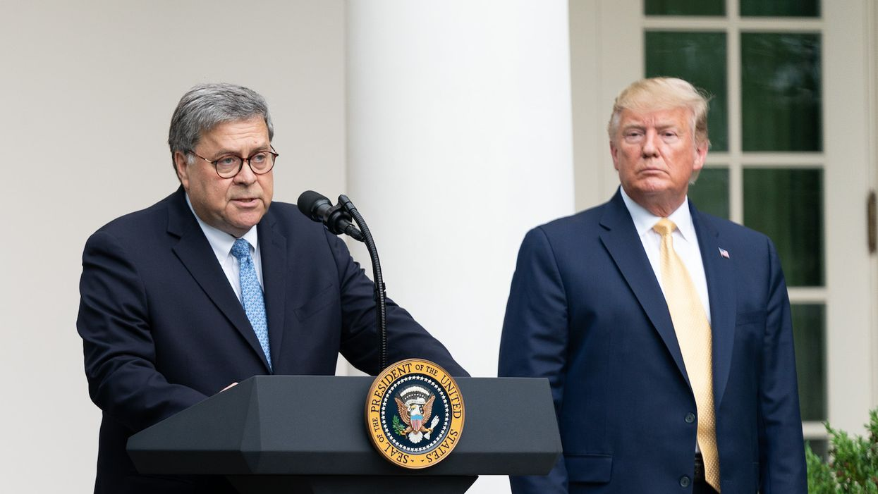 Advisers are scrambling to stop 'livid' Trump from firing Bill Barr: report