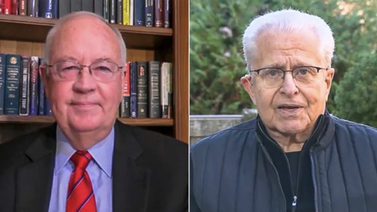 Lawrence Tribe calls Ken Starr a liar to his face: 'It's nothing like Bush v. Gore'