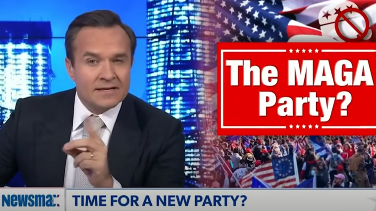 Newsmax host calls on Trump supporters to overthrow GOP and form 'MAGA Party'