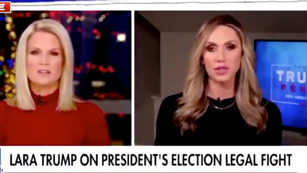 Fox News host gives Lara Trump a reality-check live on-air when she claims president won 'four more years'