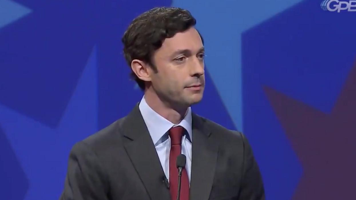Jon Ossoff debates empty podium as GOP senator 'pleads the fifth' amid scrutiny over stock trades