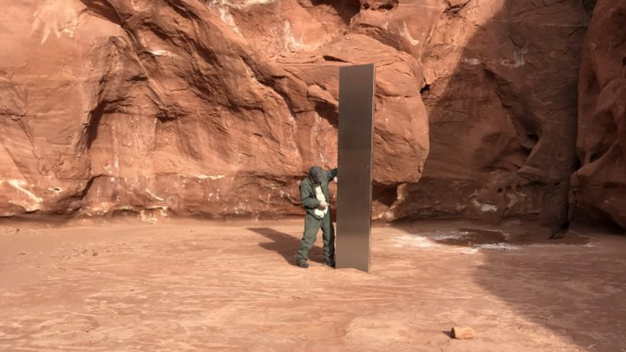 Watch: Mystery monolith discovered in remote area of Utah's Red Rock Country