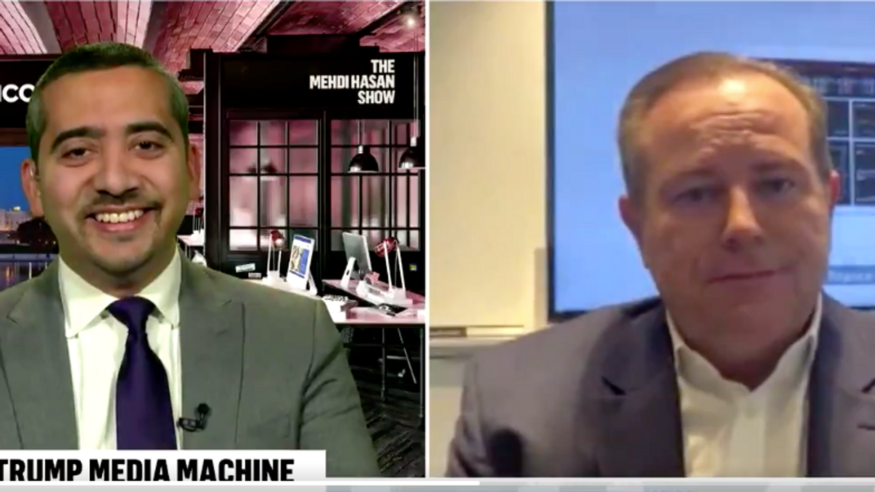 'Do you feel embarrassed?' Journalist Mehdi Hasan grills Newsmax CEO on why he airs claim COVID is a 'scam'