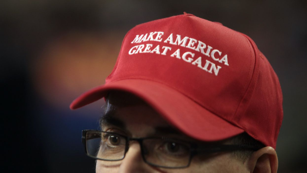Trump supporter voter hat