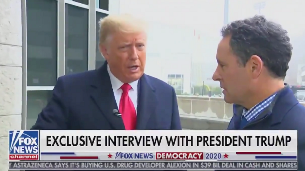 Internet slams 'groveling' Brian Kilmeade for allowing Trump to spew 'lie after lie' in Fox News interview