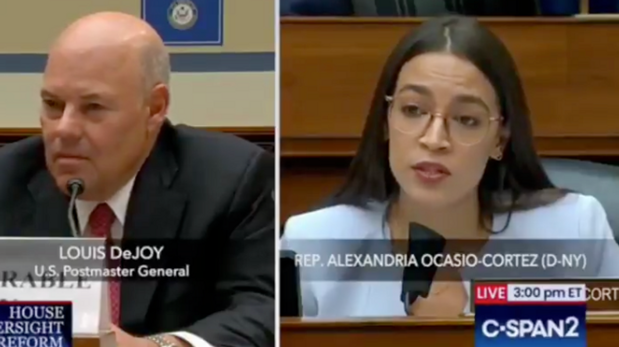 USPS releases DeJoy calendar that is 'almost entirely redacted' — months after AOC demand and federal suit