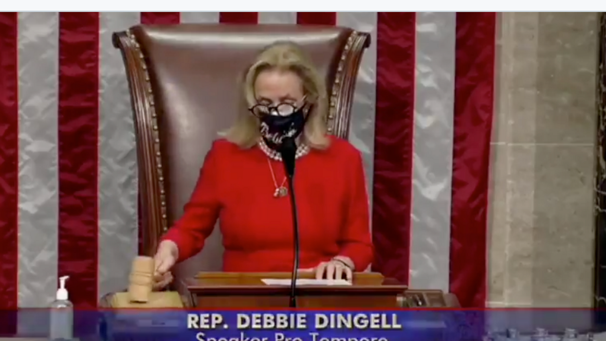 'Merry Christmas': Watch Rep. Debbie Dingell drop House gavel in gisgust Over GOP's COVID relief cruelty