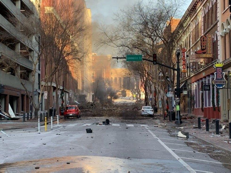 Major blast hits Nashville after chilling bomb warning