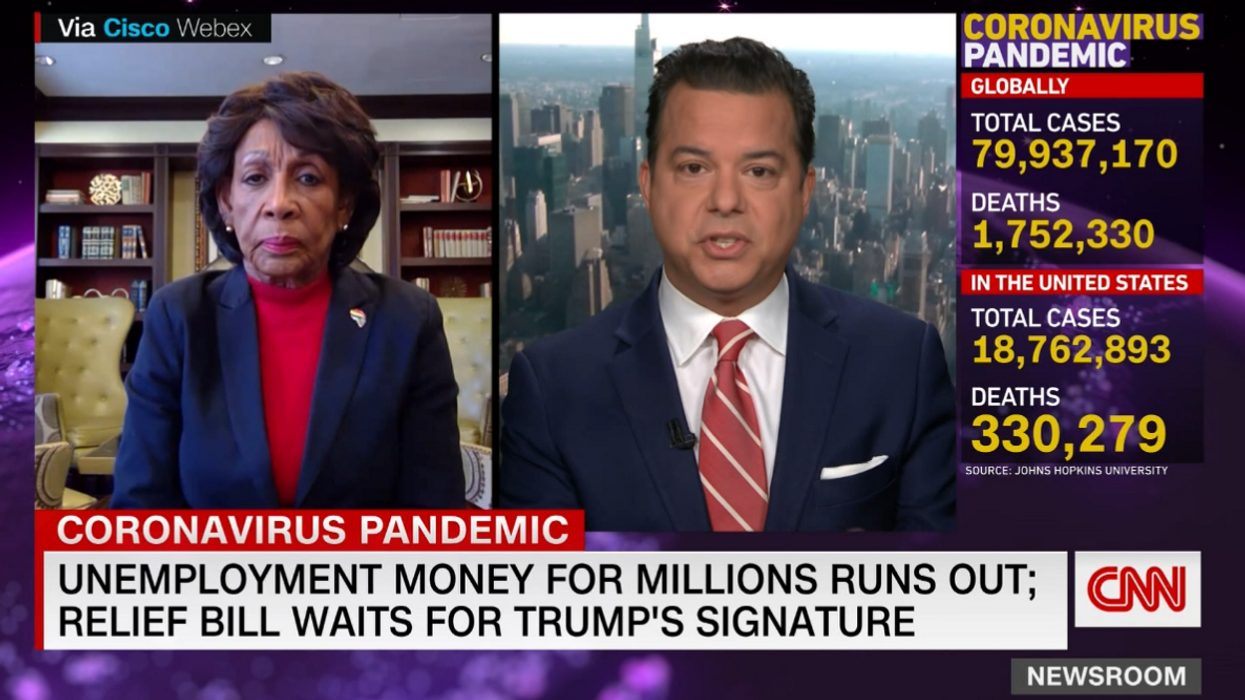 Maxine Waters goes off on Trump for political 'games' on the stimulus