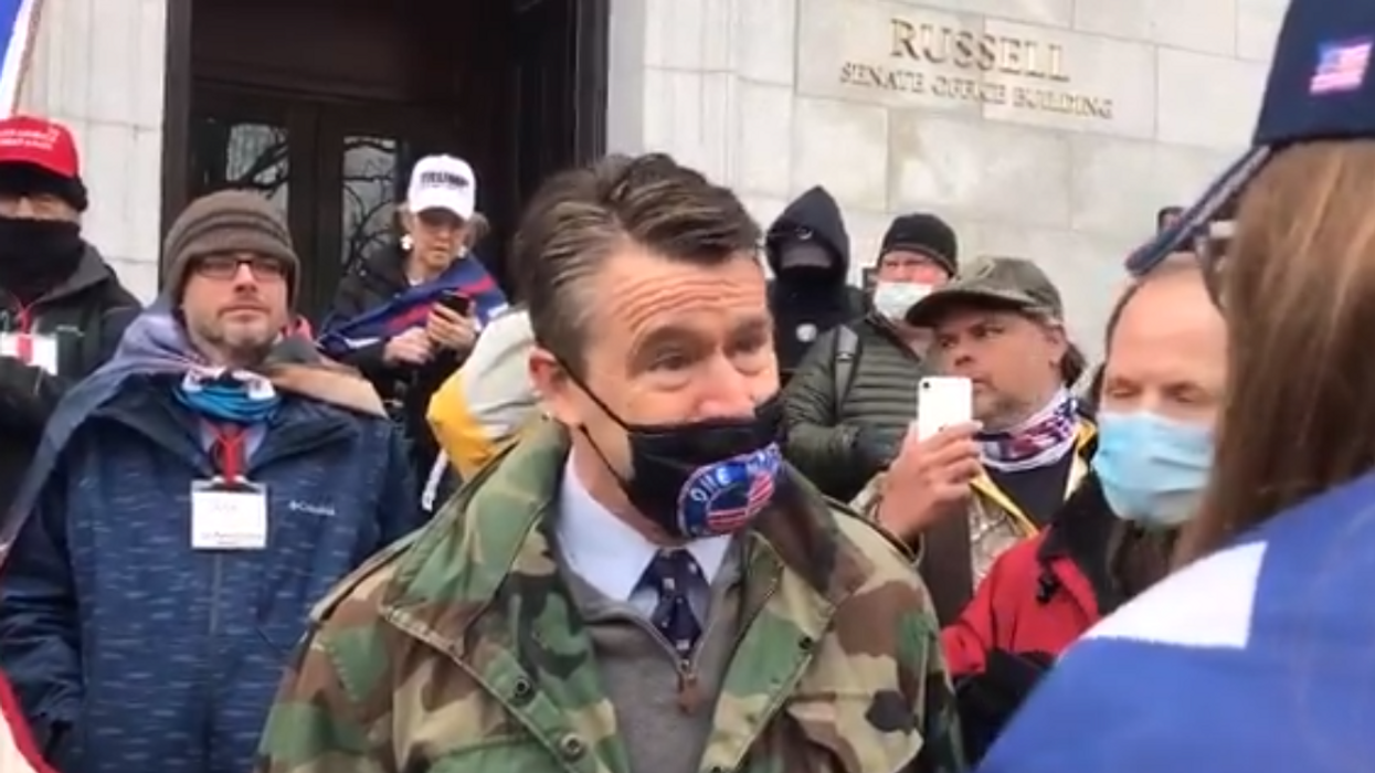 Watch: Angry Trump supporters swarm GOP senator refusing to support president's coup