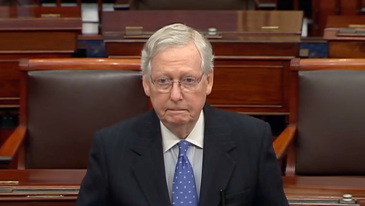 Mitch McConnell warned of a looming 'death spiral' before all hell broke loose on Capitol Hill