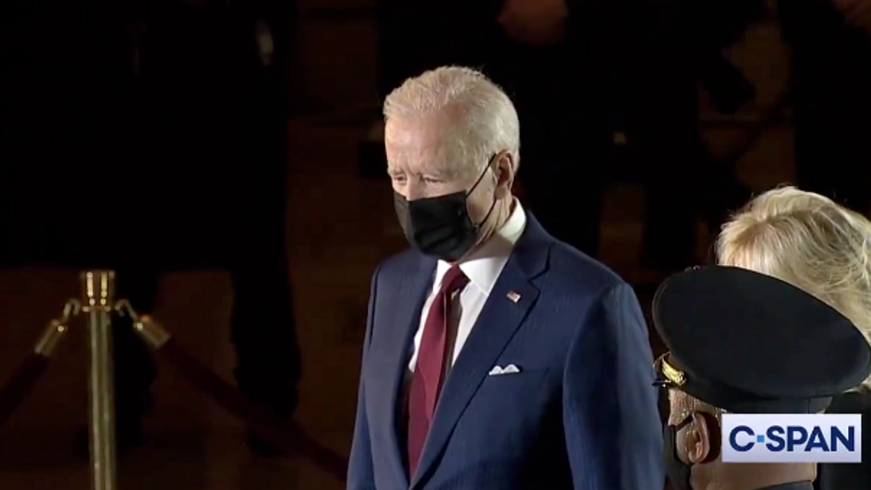 Biden makes unannounced US Capitol visit to pay respects to murdered officer Brian Sicknick