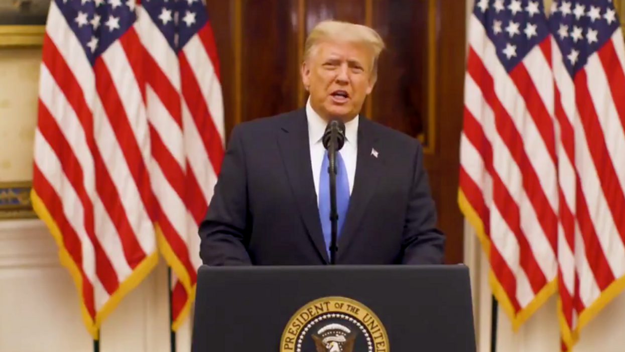 Trump slammed for 'puffery and lies' in departing speech as he tells America 'have a good life'