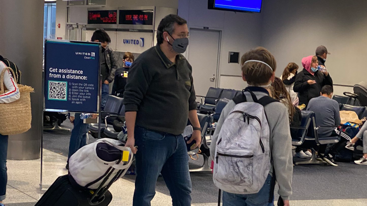 Where is Ted Cruz in the middle of Texas' growing humanitarian crisis? Airport photos show him heading to Cancun