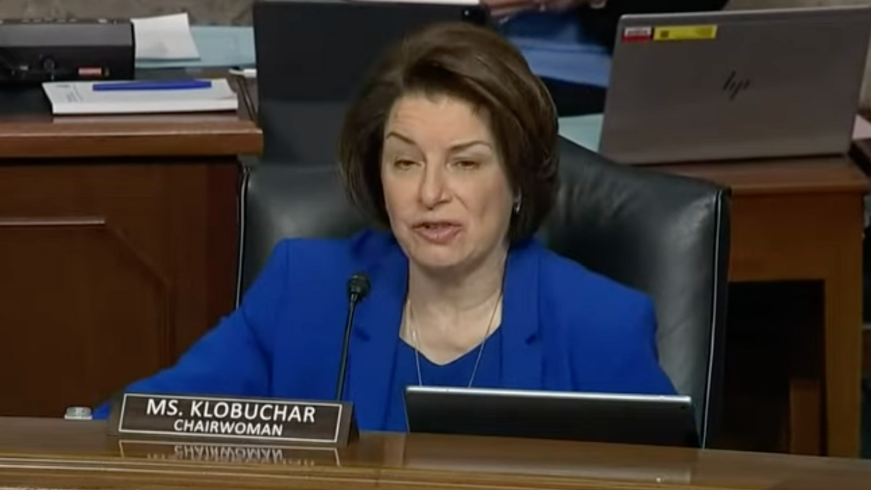 Amy Klobuchar shuts down a GOP senator spreading a 'conspiracy theory' at the Capitol riot hearing