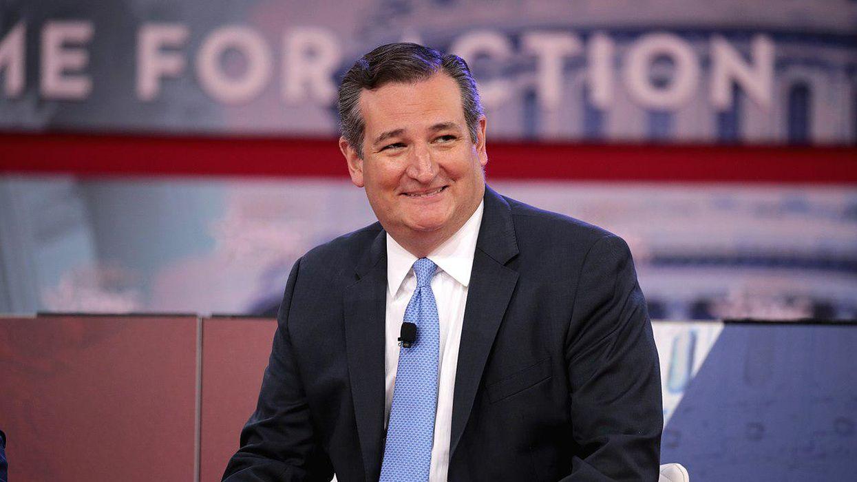 Fellow senators mock Ted Cruz's infamous Cancun trip with a biting prank