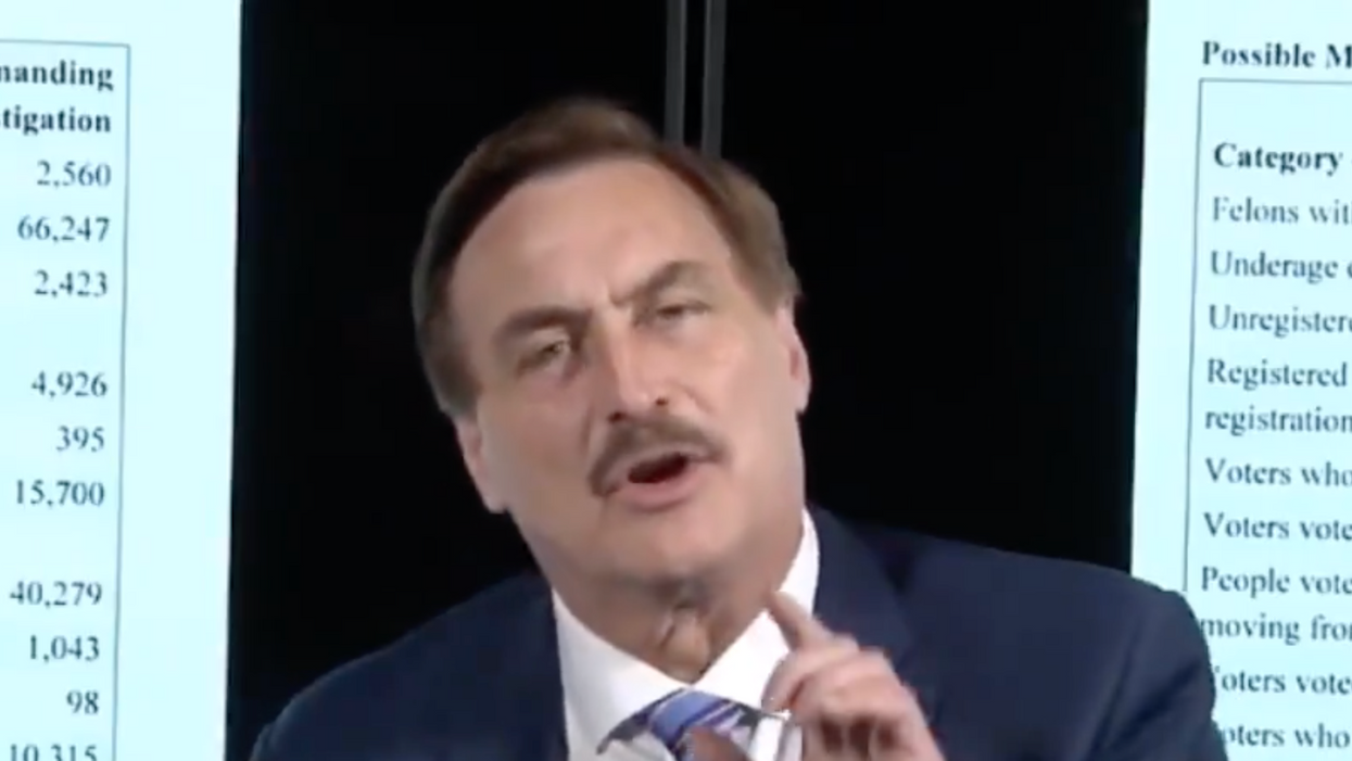 This baffling clip offers a bizarre window into the wild world of the MyPillow guy's election conspiracies