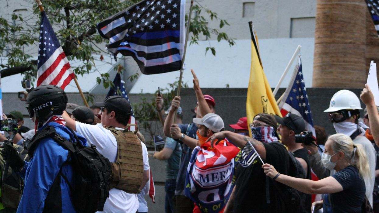 It's not money problems that bring far-right fascists together — it's the fascism