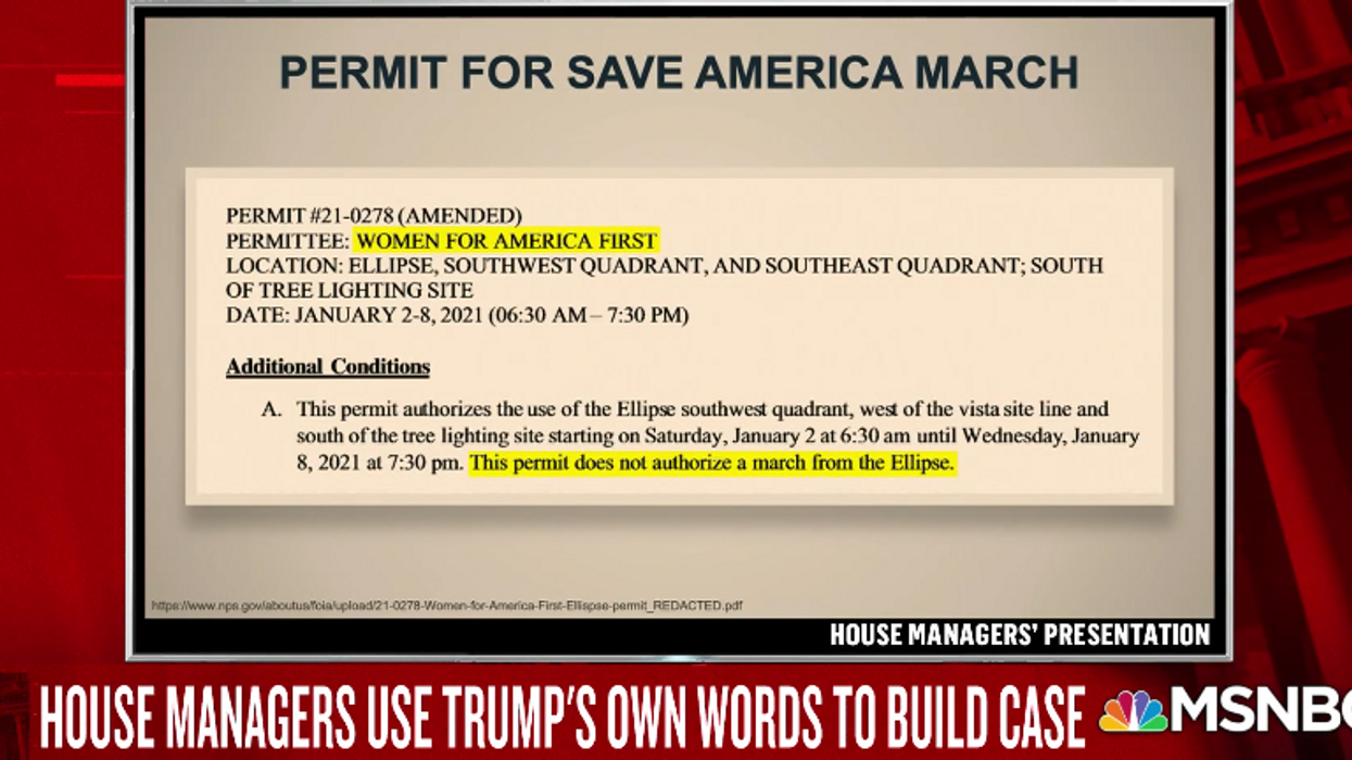 Trump White House role in sending mob to Capitol detailed in new permit evidence