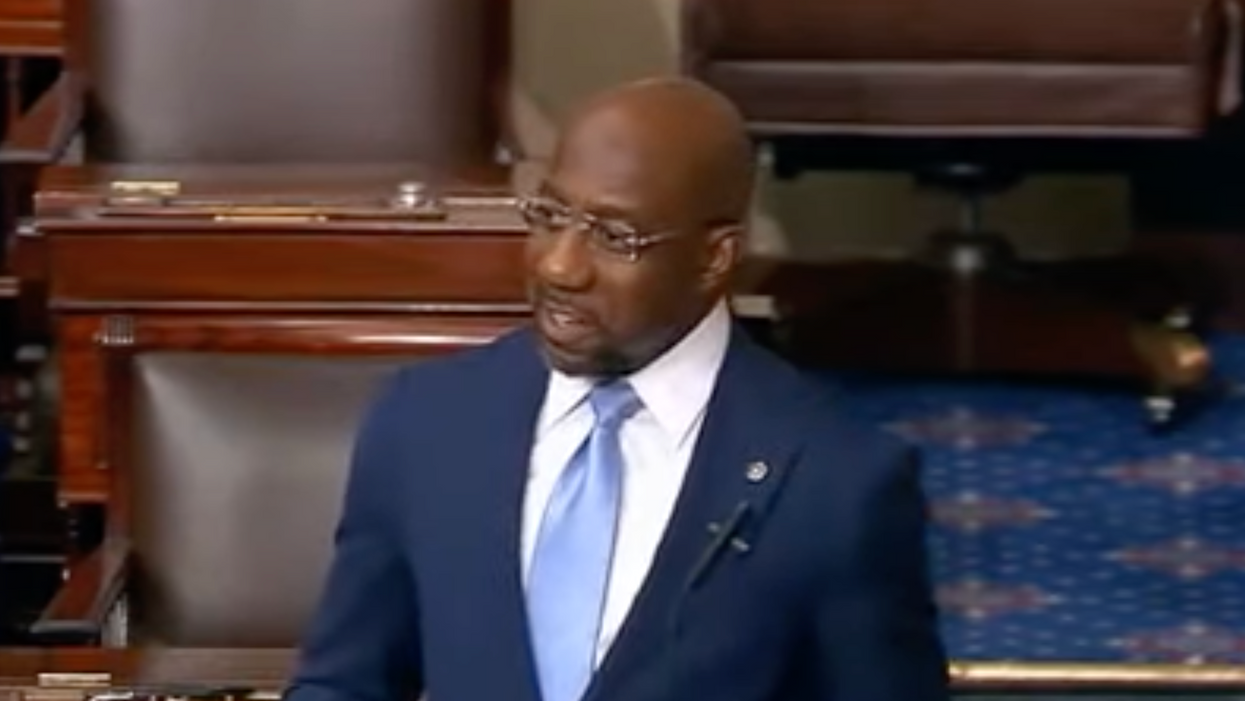 New Sen. Raphael Warnock pinpoints the key flaw in the filibuster during a powerful first speech