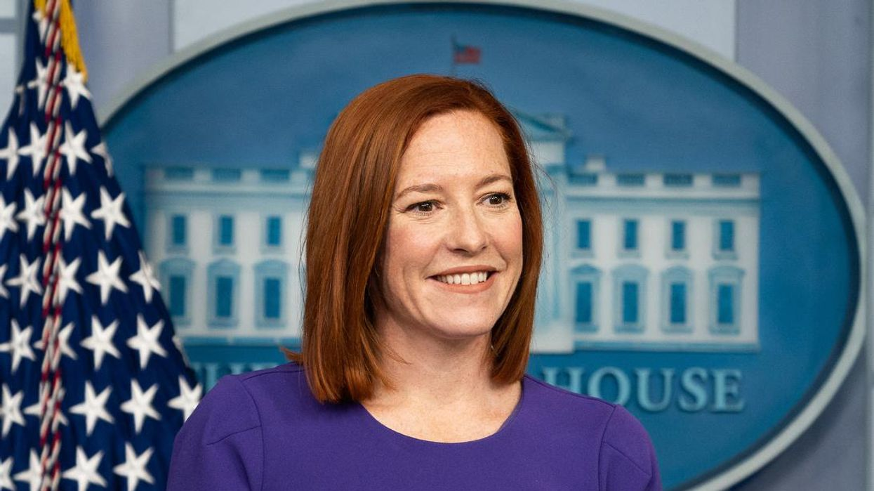 White House's Jen Psaki had a biting response when asked if Trump should help in the vaccine effort