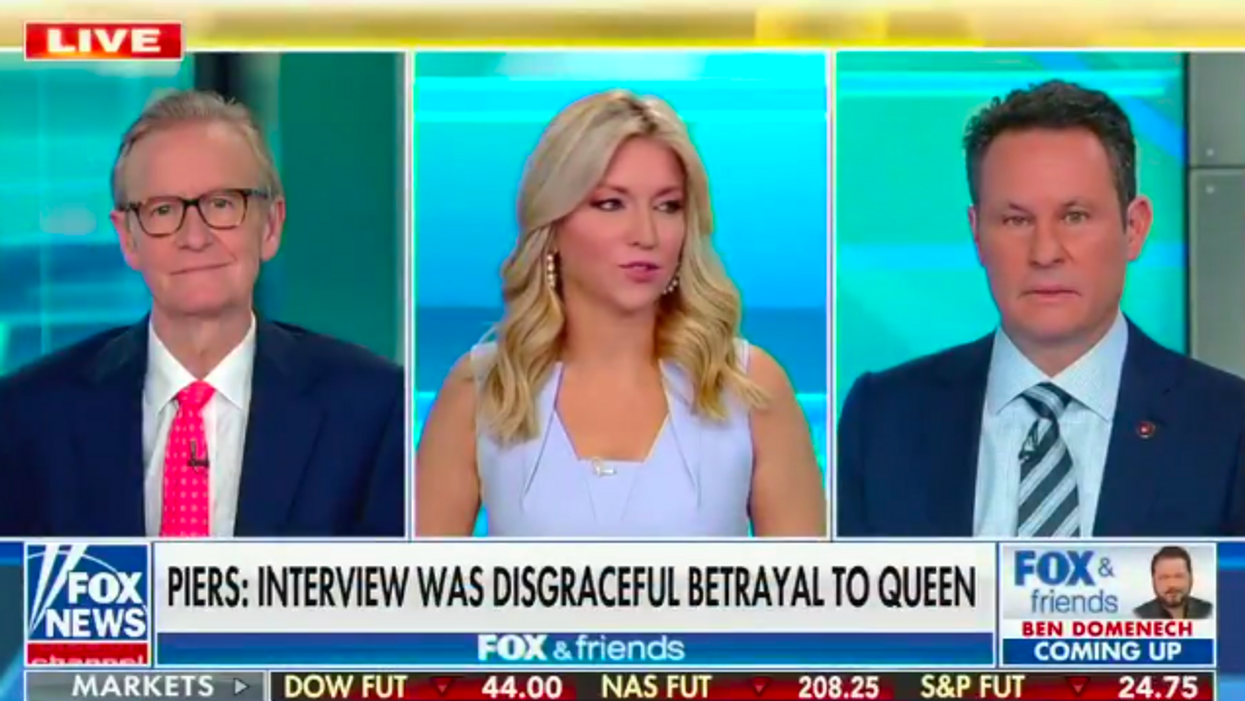 'Cracks me up': Laughing Fox & Friends hosts gang up to mock Georgia voters banned from being given water