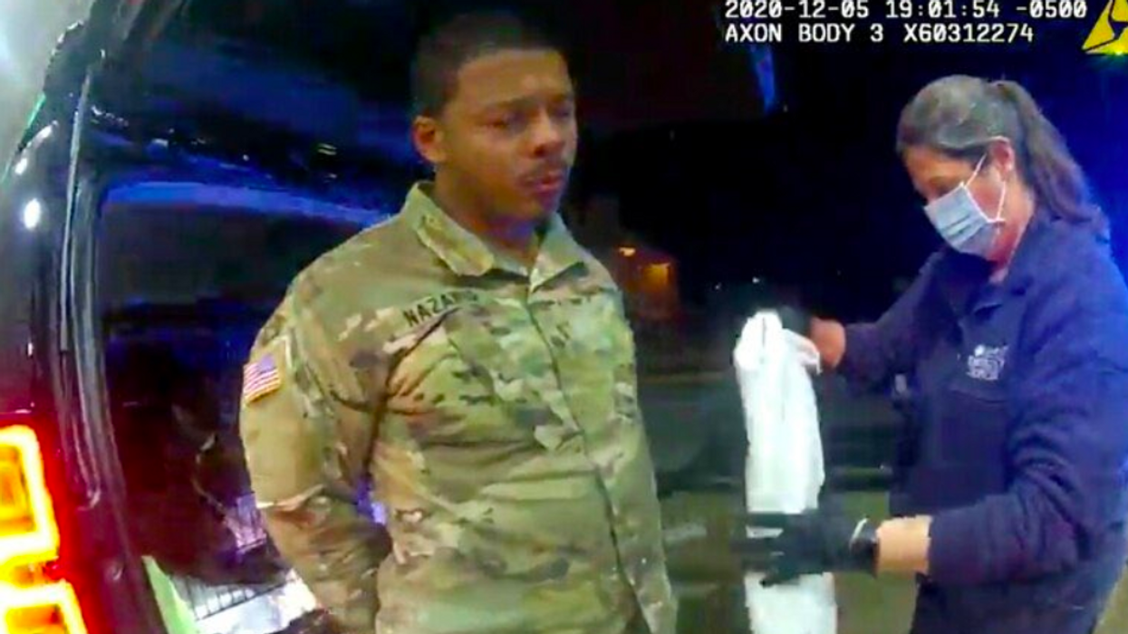 Newsmax host slammed for defending police in brutal arrest of US Army lieutenant: '2nd Amendment only applies to white people'