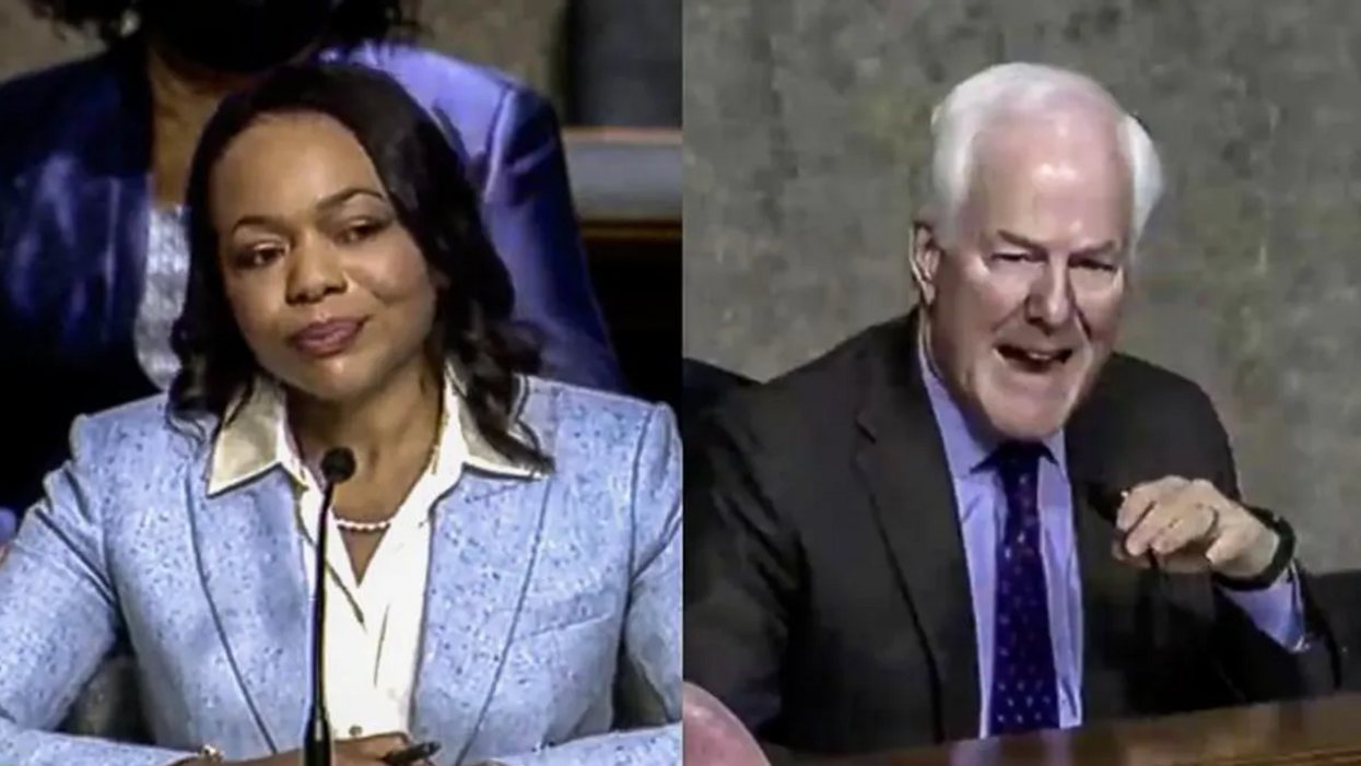WATCH: John Cornyn gets decimated by Biden nominee after he's confused by satirical op-ed