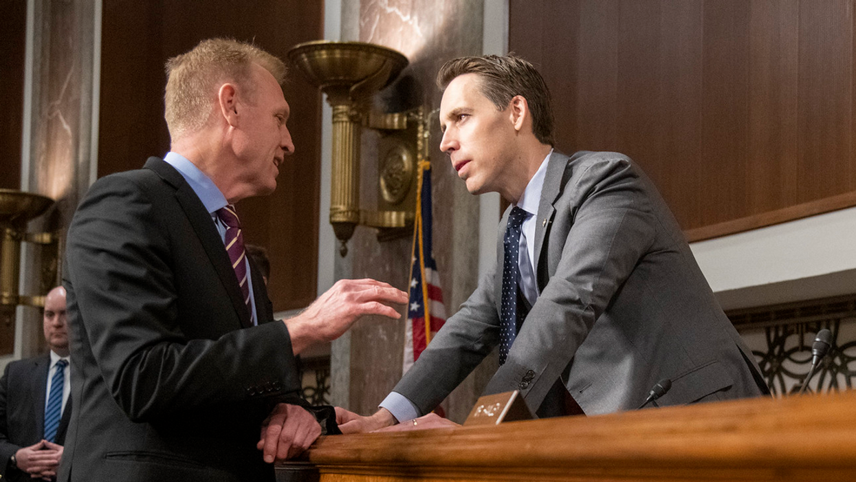 'Fascist traitor' Josh Hawley blasted for posing with troops protecting Capitol: 'You are the Reason they have to be there'