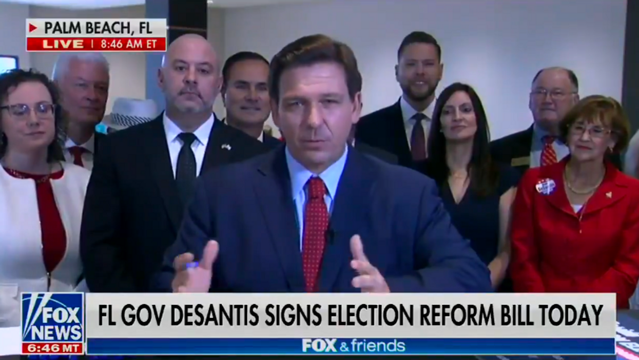 'That's not normal': DeSantis signs voter suppression bill into law — bars all local news but gives Fox 'exclusive'