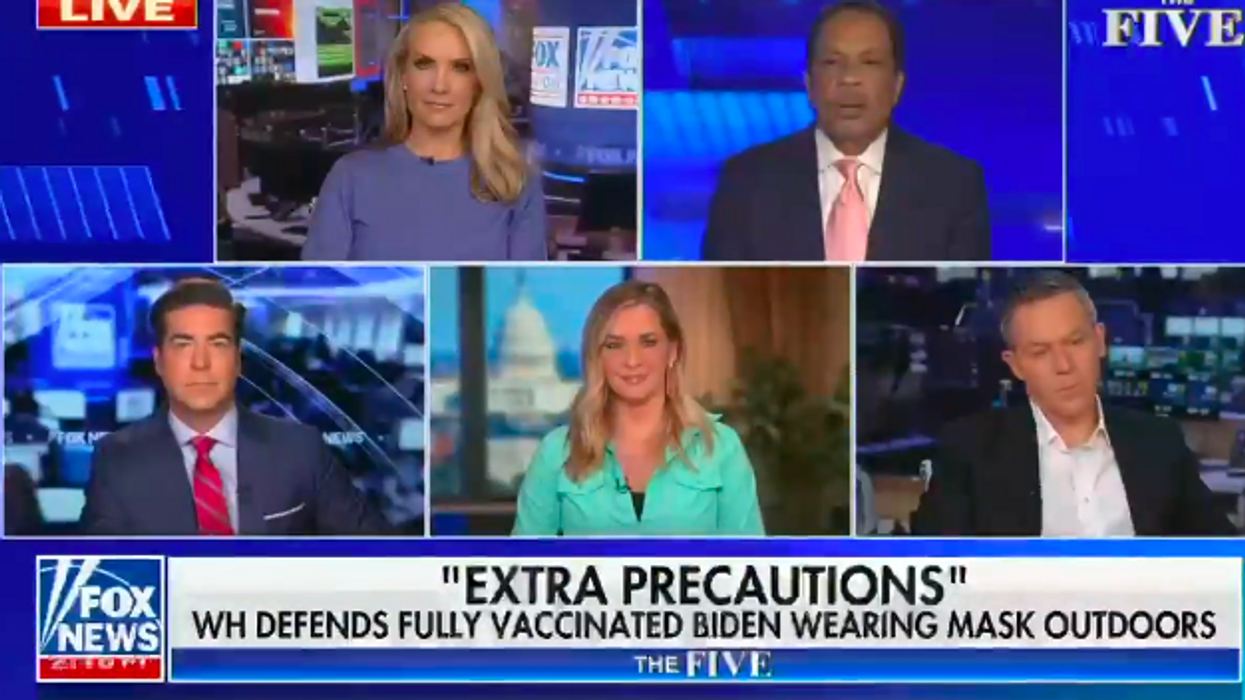 Fox News 'The Five' says Biden is an 'anti-vaxxer' and Trump was 'ahead of the science' on masks
