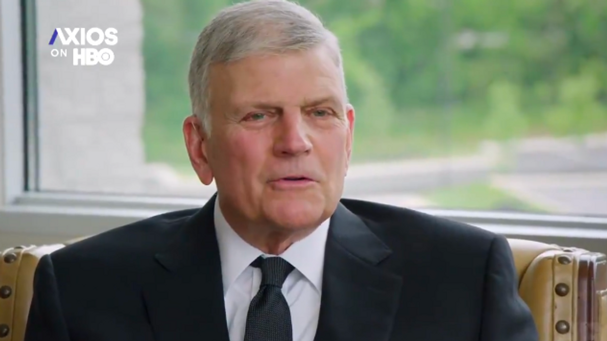 Franklin Graham serves up massively hypocritical claims on vaccines, Trump and the press in Axios interview