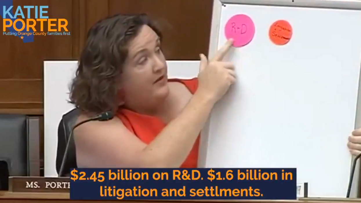 'You lie': Katie Porter wields 'whiteboard of justice' while grilling pharma CEO on price hikes