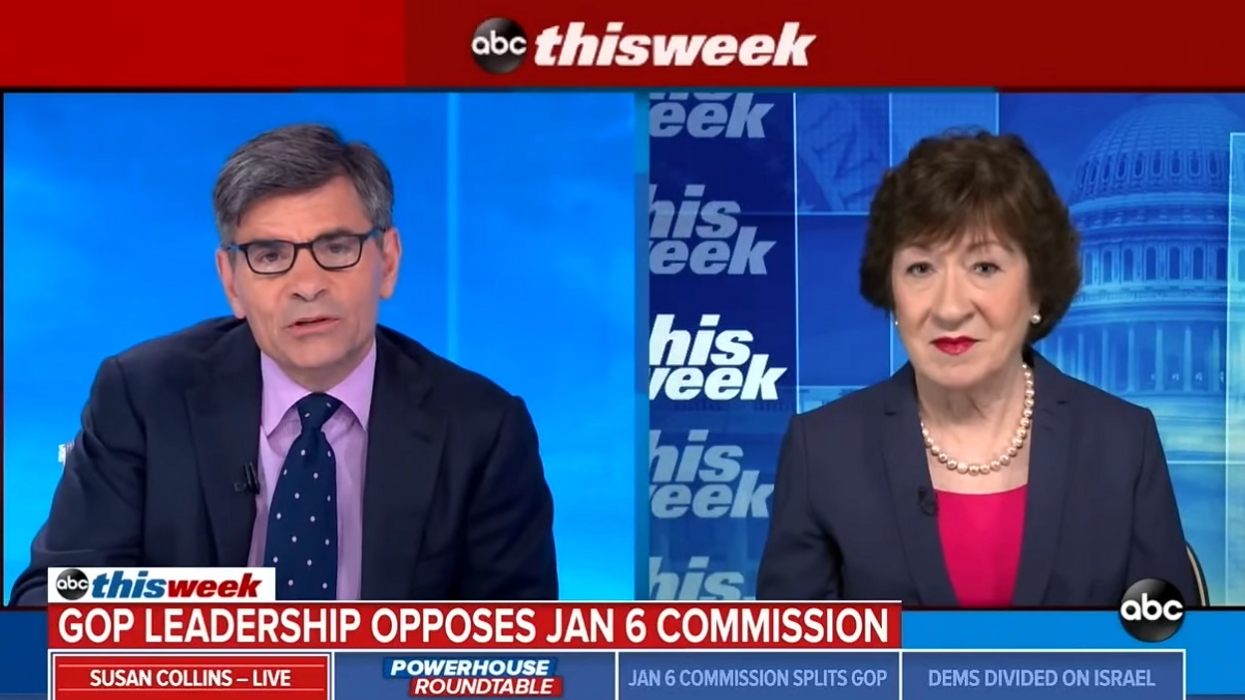 ABC host corners 'unrealistic' Susan Collins for opposing Jan. 6 commission that she 'strongly' supports