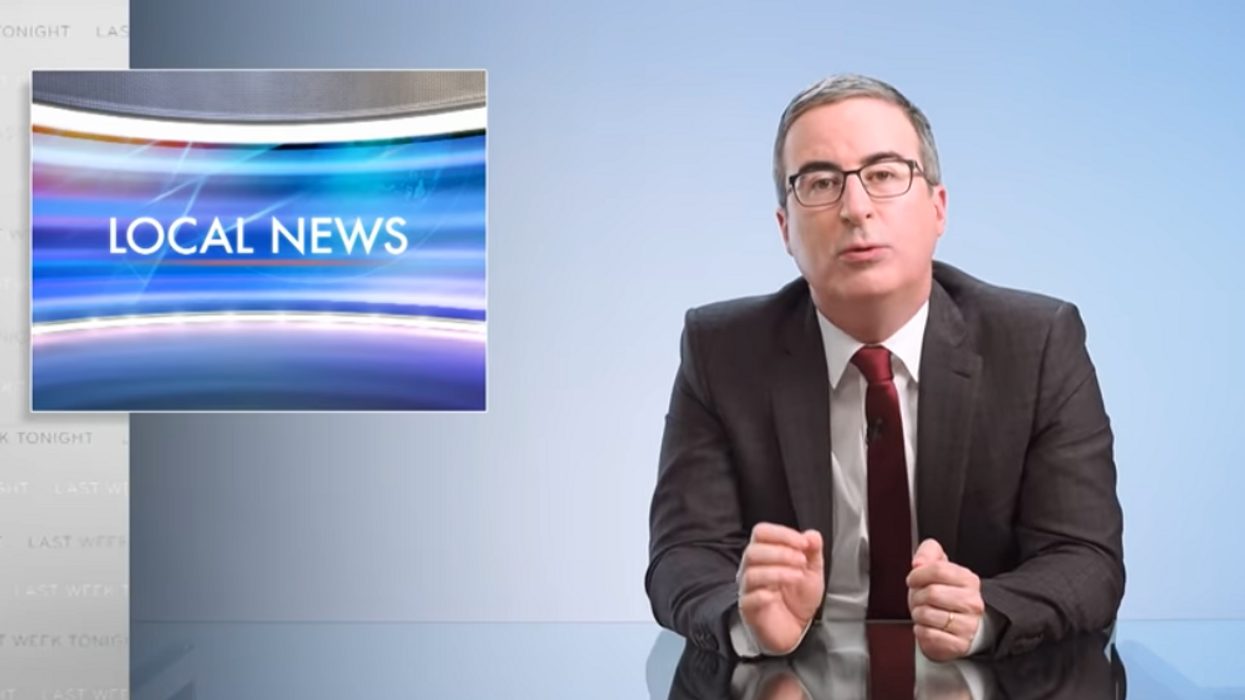 John Oliver tricks three local TV stations into airing segments about fake 'sexual wellness blanket'