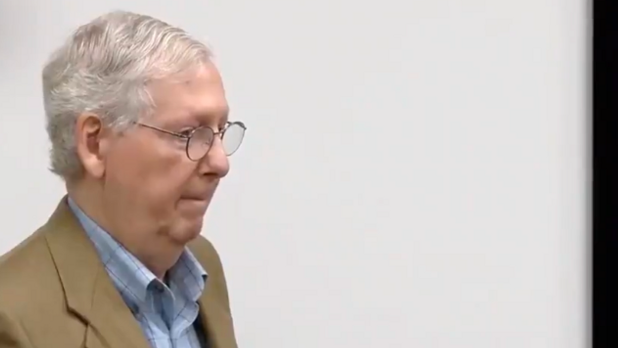 'Behind us': Mitch McConnell giggles as he shares his extremely whitewashed version of US history