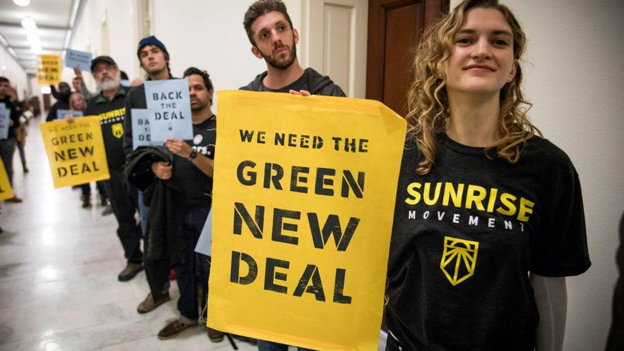 'Negotiate with us, not the GOP: Sunrise activists rally at White House to protest Biden's climate compromise