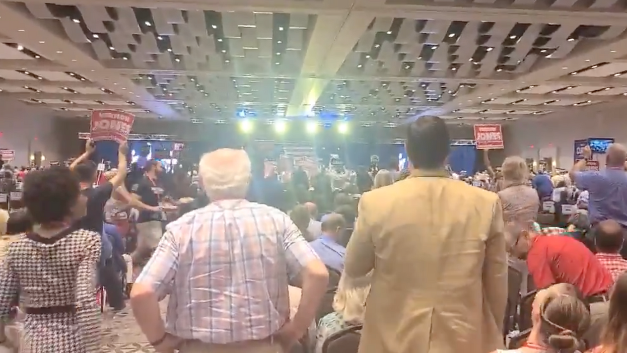 Gov. Brian Kemp gets aggressively booed by Republicans at a Georgia GOP convention