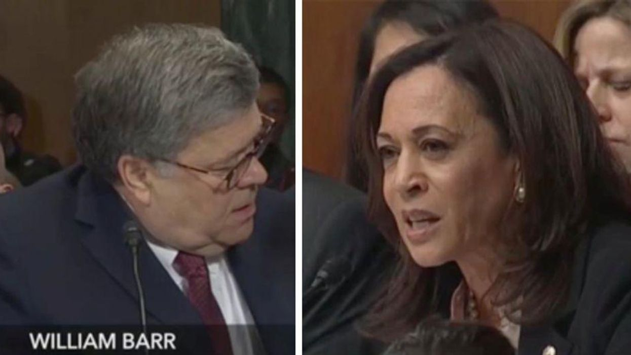 A damning exchange between Kamala Harris and Bill Barr looks even worse now