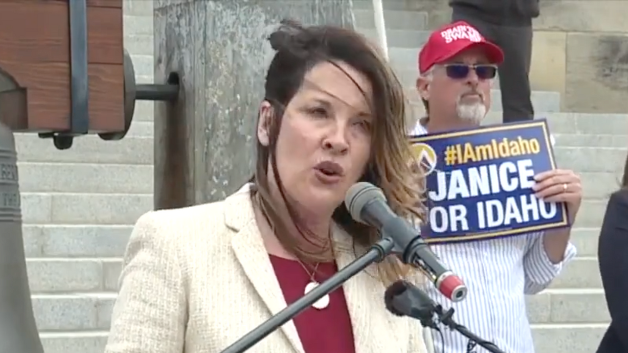 Video reportedly shows Idaho lieutenant governor being endorsed by far-right militia extremist