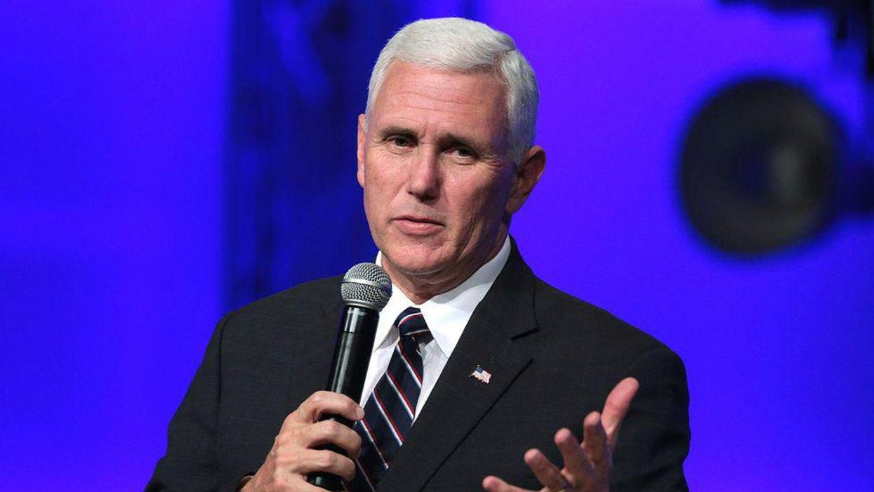 Watch: 'Traitor' Mike Pence heckled by pro-Trump Christians