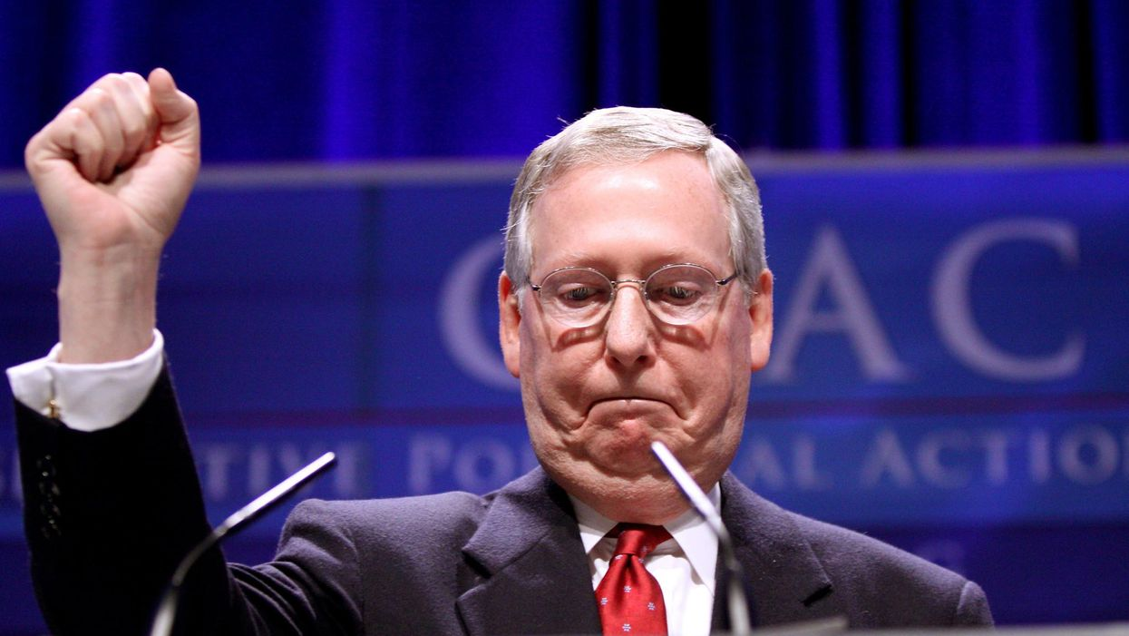 Senate GOP desperately tries to sell base on policy