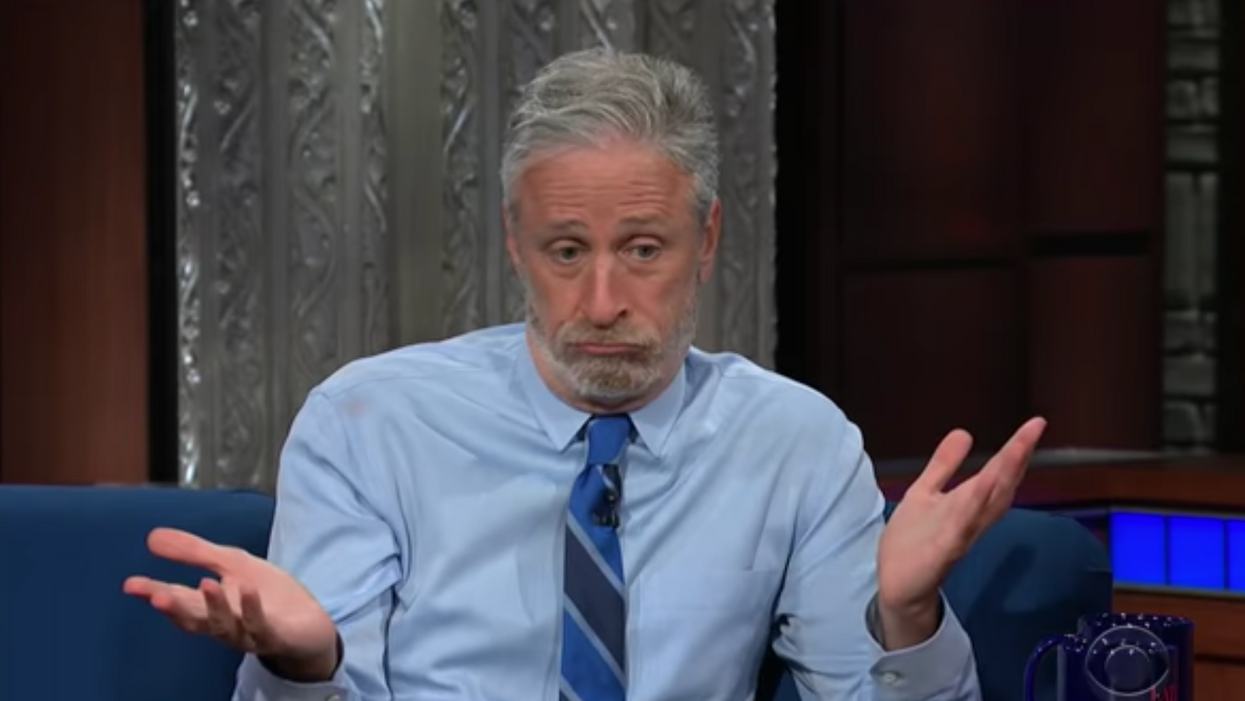 'More than likely caused by science': Jon Stewart stuns Stephen Colbert with COVID lab leak theory