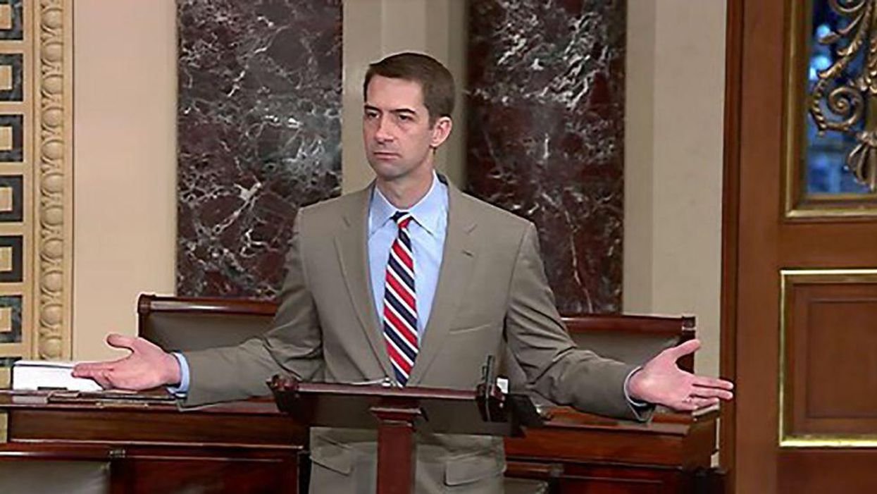 'Moron' Tom Cotton slammed after bizarre remarks suggesting China might take DNA from US Olympic athletes
